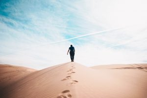 Man in a desert theory of customer service