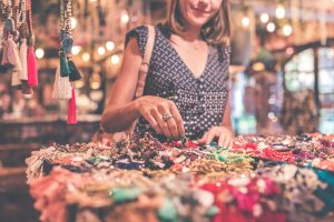 woman shopping for jewellery